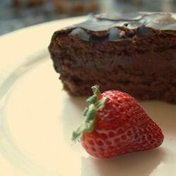 Gâteau au chocolat et amande
