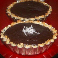 Tarte à la noix de coco et chocolat