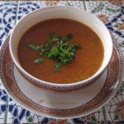 Chorba frik ou soupe de blé concassé