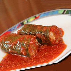 Courgettes farcies en sauce