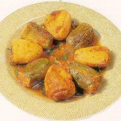 Courgettes et pommes de terre farcies au poulet