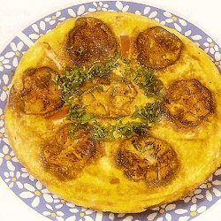 Omelette aux aubergines