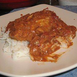 Riz en sauce tomate et escalopes de dinde