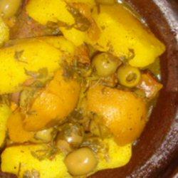 Tajine de pomme de terre aux olives